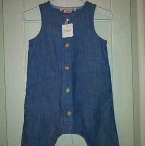 Bonpoint chambray playsuit NWT